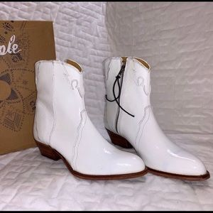 Free People frontier western bootie white